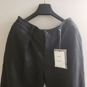 Acne Studios Alie Trousers in Dark Anthracite